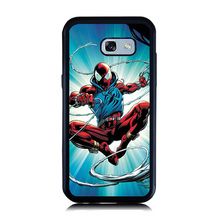 for Galaxy A3 A5 A7 2016 Case Cartoon Spider Man Cat Painting Case for Samsung A5 A7 2017 Soft Rubber Hard PC Cellphone Cover(China)