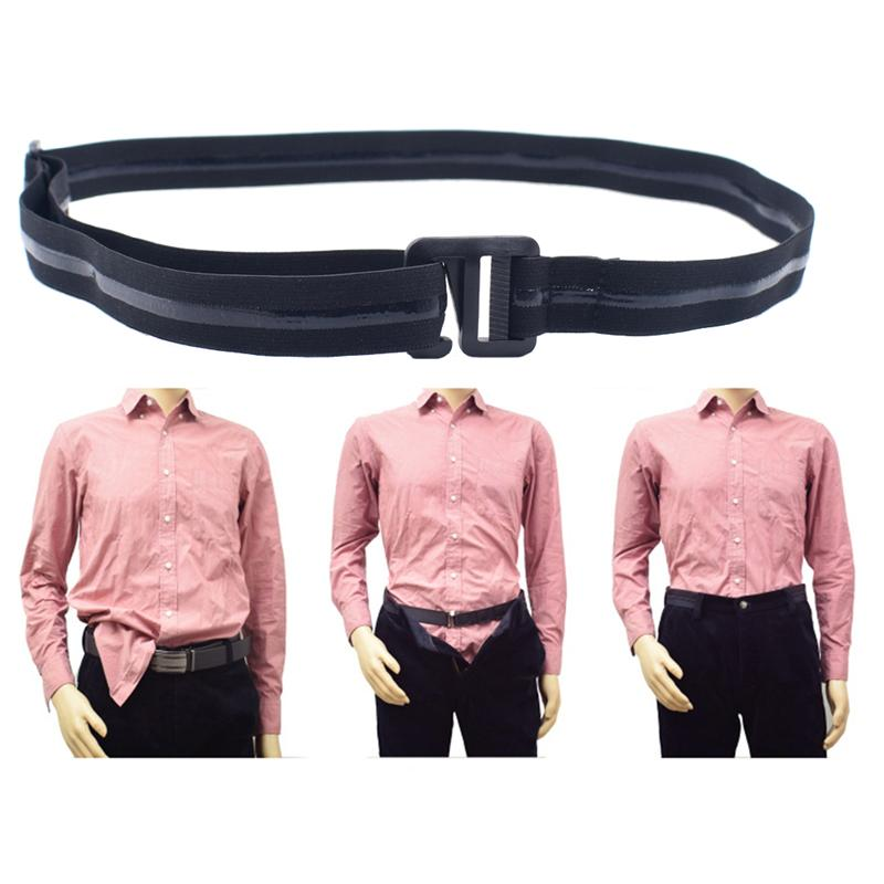 Adjustable Unisex Shirt Stay Belt Non-Slip Anti-crease Belts for Formal Wear