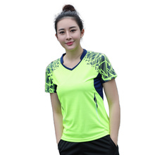 New badminton summer sports ladies quick dry summer badminton tennis shirt shirt Short Sleeve T-Shirt Free shipping(China)