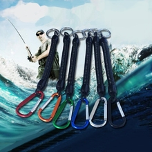 Fishing Lanyards Boating Ropes Retention String Fishing Rope with Camping Carabiner Secure Lock(China)