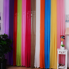 12 Valances Colors Floral Tulle Voile Door Window Curtain for bathroom windows bed room windows 1x2M(China)
