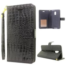 Fashion Crocodile Pattern Case For Nokia 6 High Quality Lanyard Flip Stand  Phone Cover For Nokia 6