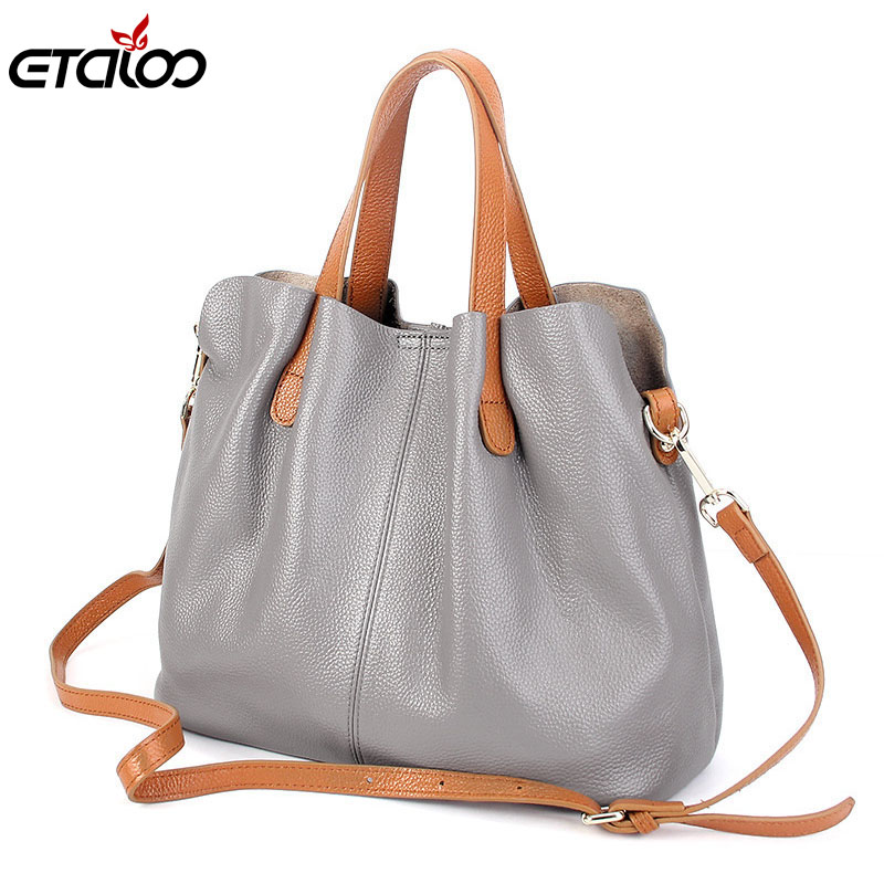 Women General leather handbags tide Europe fashion first layer of cowhide women bag hand diagonal cross package <br>