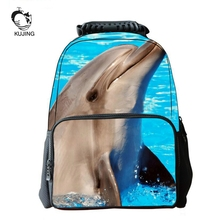 KUJING Brand Fashion Backpack High Quality 3D Student Backpack Cheap Animal Image Travel Casual Men And Women Youth Backpack