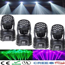 4pcs/lot dj lighting 7X12W LED Mini Moving Head Light 4in1 LED DMX Wash Light for ktv/wedding holiday party lights chandelier