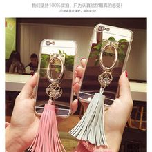 Luxury cute Diamond Metal Buckle PU leather tassel Mirror case for Samsung galaxy Grand G530 A3 A5 A7 A8 A9 J1 ACE J2 J3 J5 J7