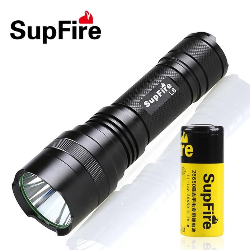 Mini Supfire CREE XM-L T6 1100LM Waterproof Powerful LED Flashlight rechargeable self defense 10w 5 Modes LED Torch L6-L2 st<br><br>Aliexpress