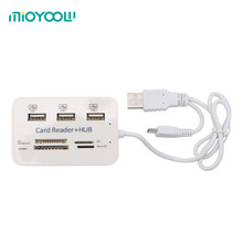 High Quality Multi-function Micro USB Hub Combo 2.0 3 Ports Card Reader High Speed Multi USB Splitter Cardreaders May01