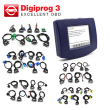 Digiprog 3 Odometer Programmer V4.94 Version Mileage correction tool + all cables full set/obd version/ main unit DHL free(China)