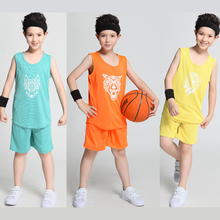 2017 DIY Kids Basketball Jersey Sets Uniforms kits Child Boys Girls Sports clothing Breathable Youth basketball jerseys shorts(China)