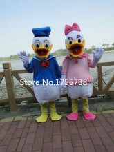 High quality adult size Donald Duck Mascot Costume sales Donald and Daisy Mascot Costume Free Shipping(China)