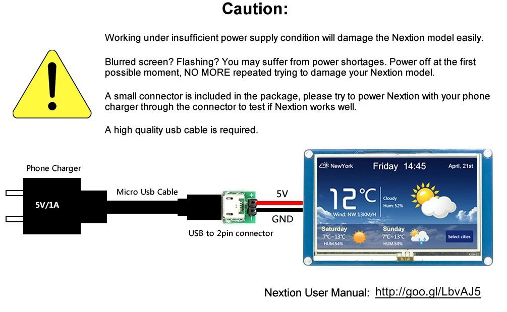 CFsunbird Nextion 4.3 HMI TFT Touch Panel LCD Display Module Raspberry Pi ESP8266