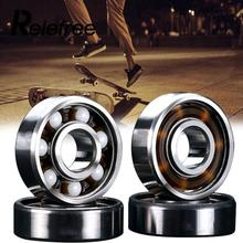 1 pc 608RS Ceramic Ball Inline Skates Scooter Wheel Spare Bearings Drift Plate Silver Skates Scooter Accessories(China)