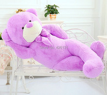 Wholesale  Teddy Bear plush toy  100cm  birthday Valentine's Day gift  Purple Factory outlets plush toy doll  woman Lavender