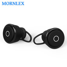 Mini fone de ouvido bluetooth earphone true wireless earphone hands free stereo earphones telephone receiver for cell phone