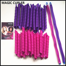 At Fashion Hot hair curlers rollers 40pcs/set 55cm Magic Hair Roller with Diameter 2.5cm Easy Use long soft diy styling tools