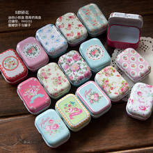 Free Shipping!American Style Mini Pill Case Collectables mini Box Diy storage box square lipstick case small tin box 32pcs/box