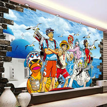One Piece Photo Wallpaper Custom D Wallpaper Japanese Anime Wall Murals Cartoon Kids Bedroom Tv Backdrop Wall Art Room Decor