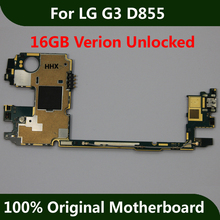 For LG G3 D855 Motherboard 16GB Unlocked Mainboad With Full Chips Logic Board Original Android OS Installed Full Function