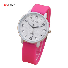 Children Watch Kids Girl  Pink Jelly Clock Boys Teens Sport Casual Quartz Cheap Silicone Wristwatch Students Brand Birthday Gift