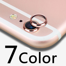 luxury Rear Camera Guard Circle Metal Lens For apple iphone 7 4.7inch Protective Case Cover Ring Bumper lens Protection Ring
