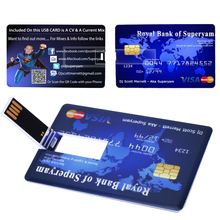 4G 8G credit card USB Flash Drive customized Pen drive personalized as your logo photo design pendrive (15pcs can print logo )