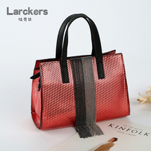 Genuine leather diamond lattice women handbag grace high quality shinning color shoulder bags ladies handbags messenger bag