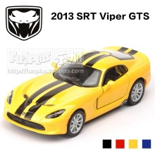 High Simulation Exquisite Diecasts&Toy Vehicles: KiNSMART Car Styling Dodge 2013 SRT Viper GTS Supercar 1:36 Alloy Diecast Model(China)