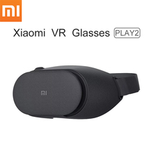 Wholesale 4pcs/lot Xiaomi VR Play 2 Mi 3D Virtual Reality Glasses PLAY2 Google Cardboard Millet VR Glasses For Android IOS Phone(China)