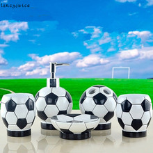 World Cup Bathroom Set Continental Resin Brazil Sanitary five Toiletries kit Bathroom Sets World Cup Football 2014