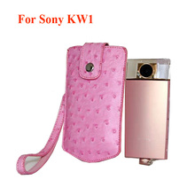 Digital Camera bag Ostrich Skin Style Pouch for Sony DSC-KW1 camera cover case KW1 handbag