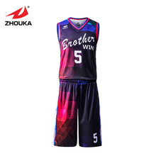 Professional design breathable basketball uniforms sets kids adult basketball clothes custom cool college basketball jerseys(China)