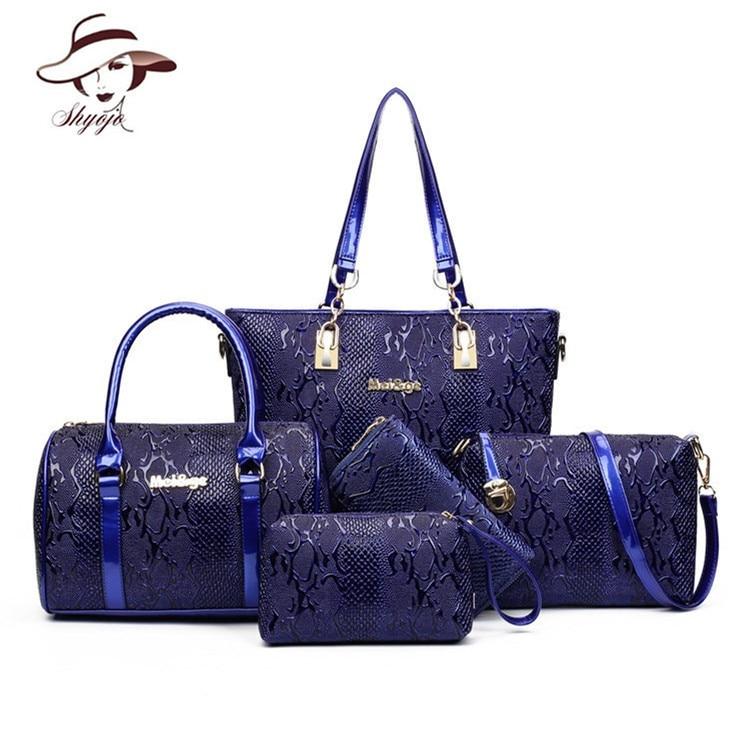 5 Sets Composite Bags Luxury Designer Women Leather Handbag Ladies Messenger Handbags Famous Brands Fashion Female Classic Bag<br>