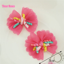 Your Bows 2Pcs Lace Princess Style Hair Clips Corker Bows Hairpins Little Girls Barrettes Headwear Children Hair Accessories(China)