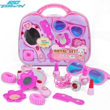 RCtown Children Make Up Game Toys Set Pretend Play Hairdressing Suitcase as Gifts for Girls zk30(China)