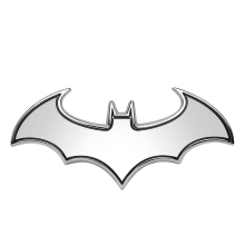 3D Car Stickers Cool Bat Metal Auto Logo Batman Badge Emblem Tail Decals Auto Decoration Accessories Car-styling(China)