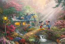 1 piece canvas art HD new Thomas Kinkade Mickey Mouse Cartoon Anima Canvas Print decoration for home Living Room Wall\C-489