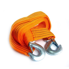 3M 3 Tons Heavy Duty 12ft Road Emergency Trailer Auto Car Vehicle Tow Rope Line Strap 2 Hooks
