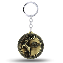 MS Jewelry Song of ice and fire Key Chain House Baratheon Key Rings For Gift Chaveiro Car Keychain Key Holder Souvenir(China)
