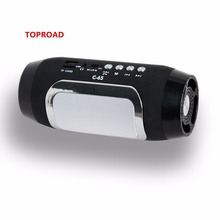 Toproad Bluetooth Speaker MP3 Player Altavoz Bluetooth Mini Portable Wireless Speaker for Phone with FM Radio USB Speaker C-65(China)