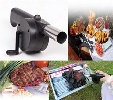 New BBQ Fan Hand Fan Cranked Outdoor Picnic Camping BBQ Barbecue Tool Fan/Blower Barbecue Fire