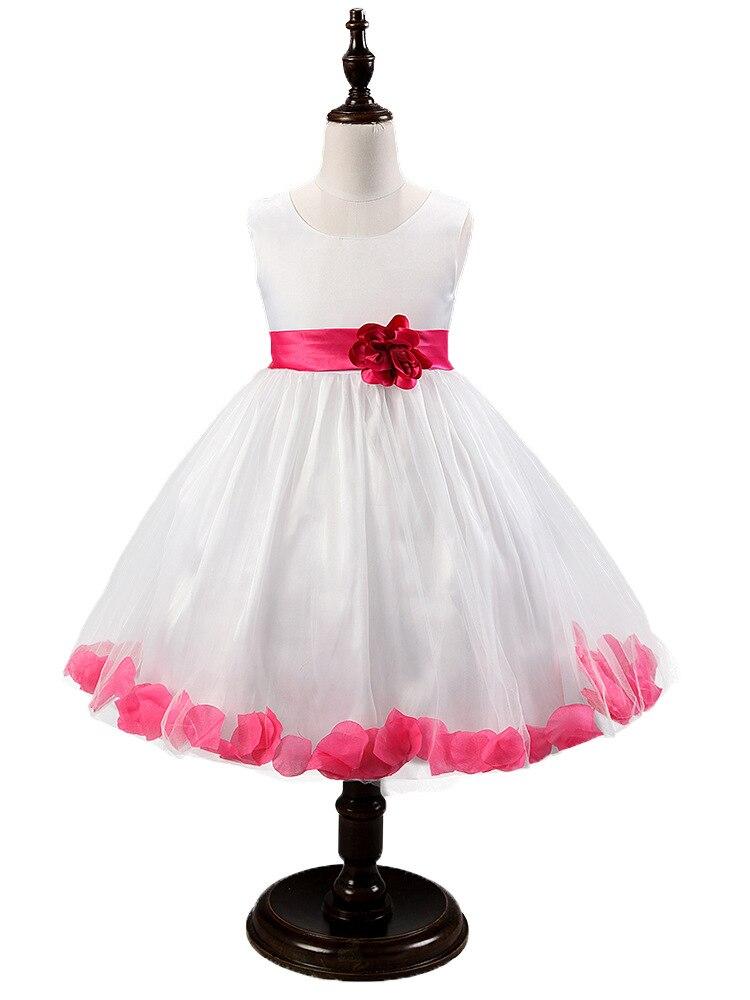 Kids Girl Wedding Dress Princess Bridesmaid Flower petals pink cosplay Toddler Elegant Pageant summer Tulle Formal Party Dress<br><br>Aliexpress