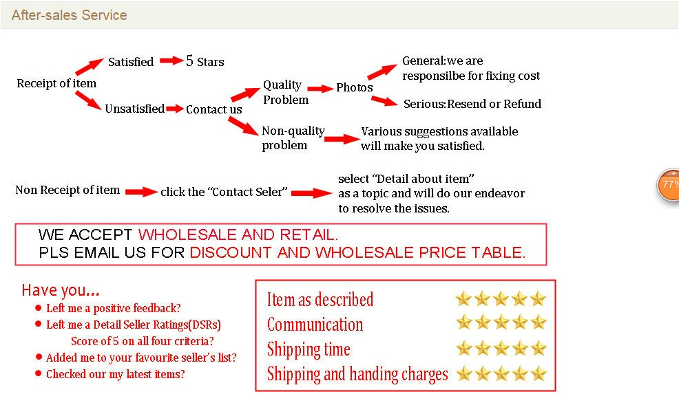 After-sales Service -