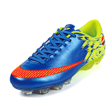 New Men Youth Outdoor Soccer Cleats Shoes Firm Ground FG Soccer Shoes Football Trainers Athletic Sneakers for Soccer