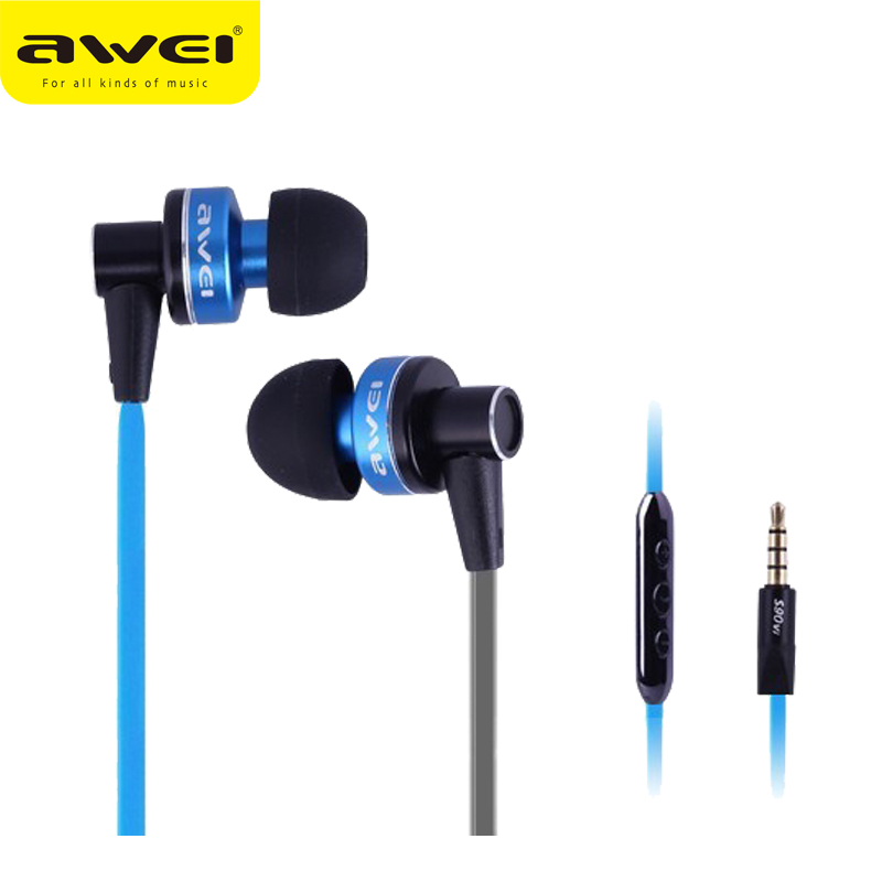 Original Awei ES90vi Super Bass HIFI Music Earphones with Microphone In-ear Style Earphone Earbuds for iPhone MP3 Tablet PC PSP<br><br>Aliexpress