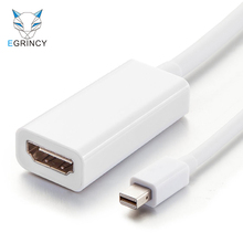 EGRINCY Mini DisplayPort To HDMI Adapter Cable Male To Female Mini DP Thunderbolt Converter For MacBook Mac Mini iMac Projector(China)