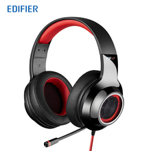 Edifier G4 Gaming Headphone 7.1 virtual surround sound Game headset Vibrating effects Retractable Microphone Robust PVC cable(China)