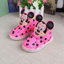 New Cartoon Children Shoes For Girls Luminous Sneakers Newborn Baby Boys Glowing Shoes Infant Girls High Top Sneakers For Boys