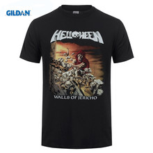 Fashion 2018 Top Tee Mens Helloween Walls of Jericho T-Shirt 1985 - Heavy Metal - Power Metal New(China)