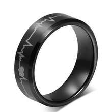 Tungsten steel rings Europe style Steek ring finger jewelry vintage Male Black Ring 8mm Tungsten Carbide Band Rings Heavy(China)
